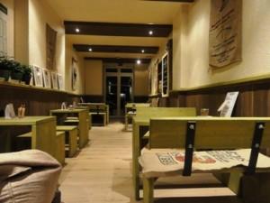 Sitzplatzbereich in der Kaffeerösterei